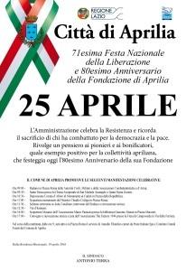 Aprilia 25 Aprile 2016 manifesto