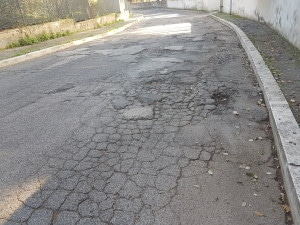 Via Olmata dietro villa Borghese