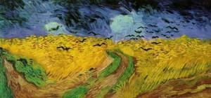 (Vincent Van Gogh, Campo di grano con volo di corvi)